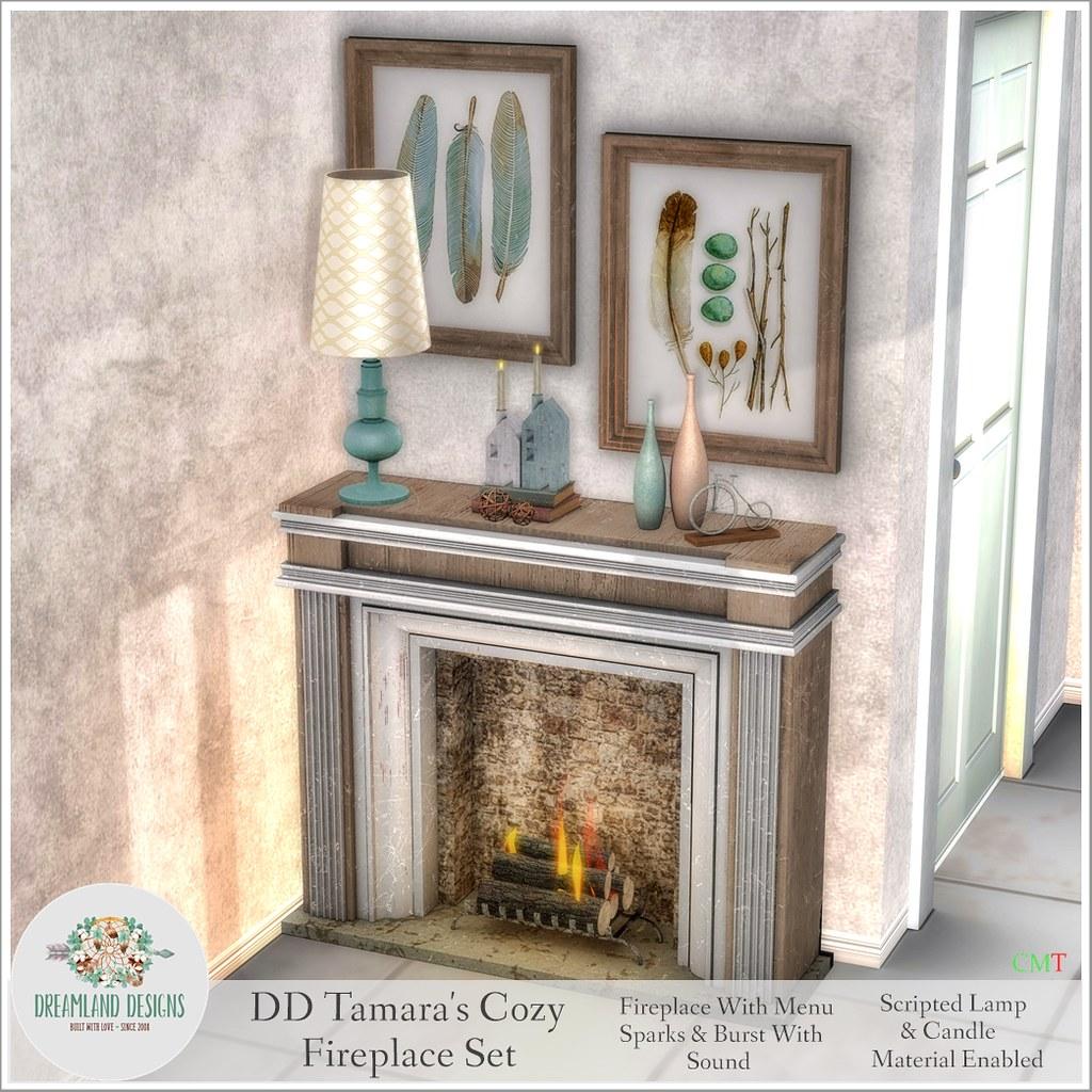DD Tamara's Cozy Fireplace Set SlowAD