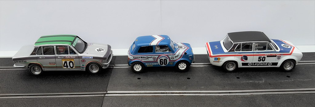 Scalextric Mini 1275GT & Resin Triumph Dolomite Sprints