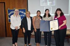 Citation presentation to the Enfield Junior Women's Club