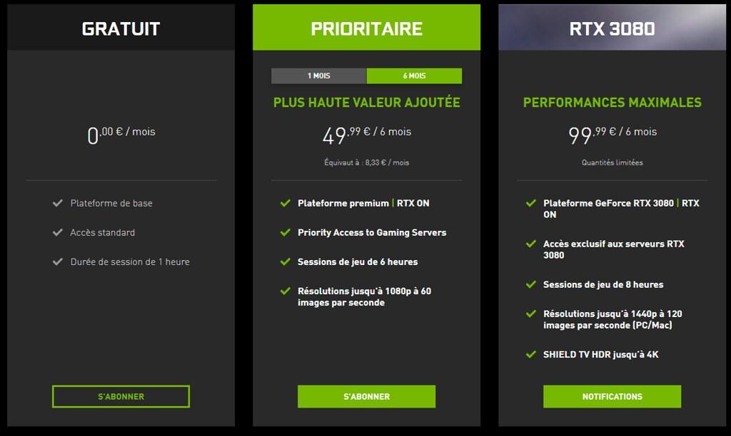 Nvidia GeForce Now RTX 3080