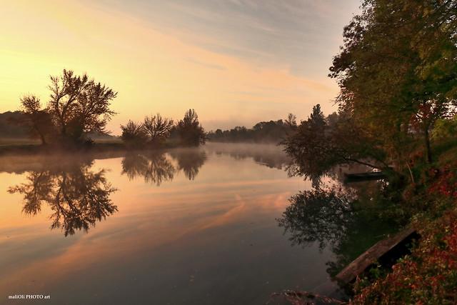 River Korana on morning