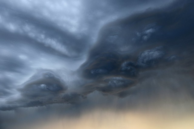 Scary looking clouds