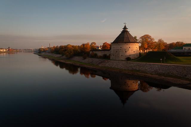 Pokrovskaya Tower in Pskov