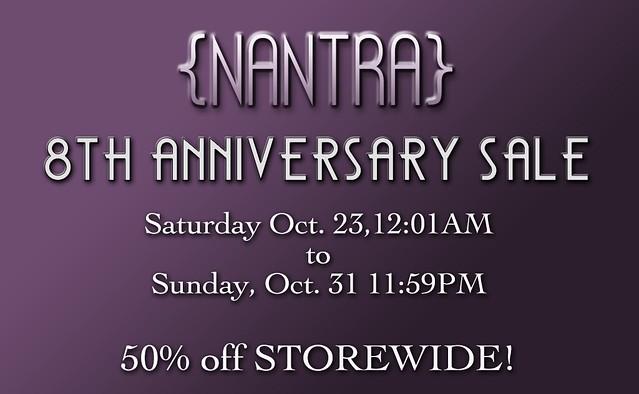 {NANTRA} 8th Anniversary sale