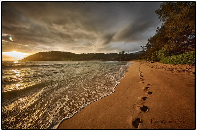 Sunrise, Moloa'a Bay, Kauai.