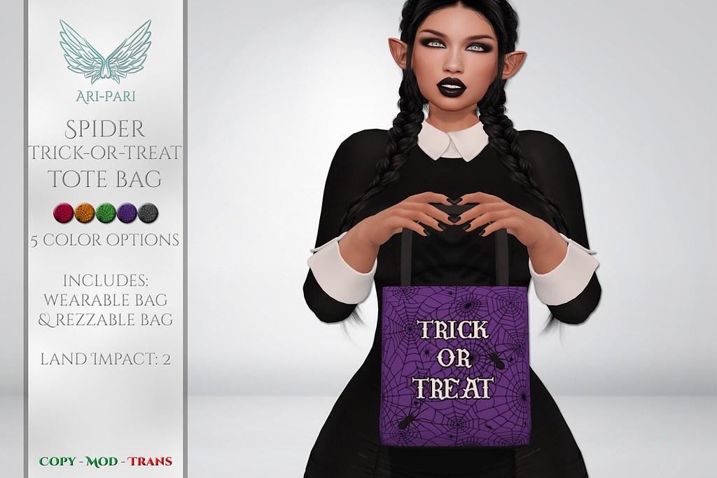 [Ari-Pari] Spider Trick-Or-Treat Tote Bag