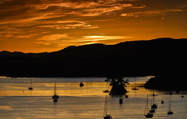 Pine Island orange sunrise 6.40am