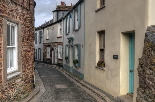 The narrow streets of Cawsand, Cornwall