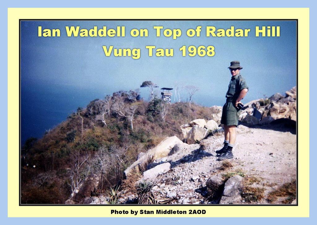 0078-Ian Waddell on Top of Radar Hill, Vung Tau - Jan 1968 (Stan Middleton)
