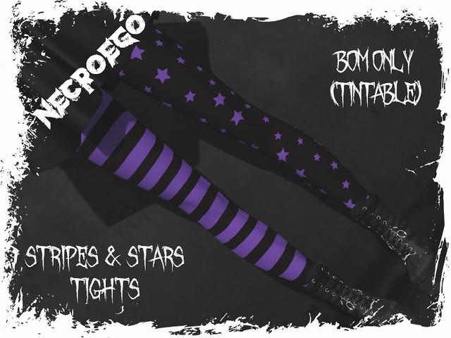 stripes & stars tights