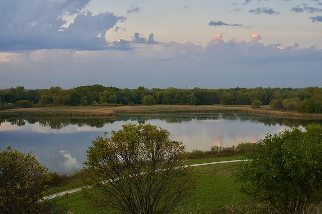 A quiet evening at the Nature Preserve