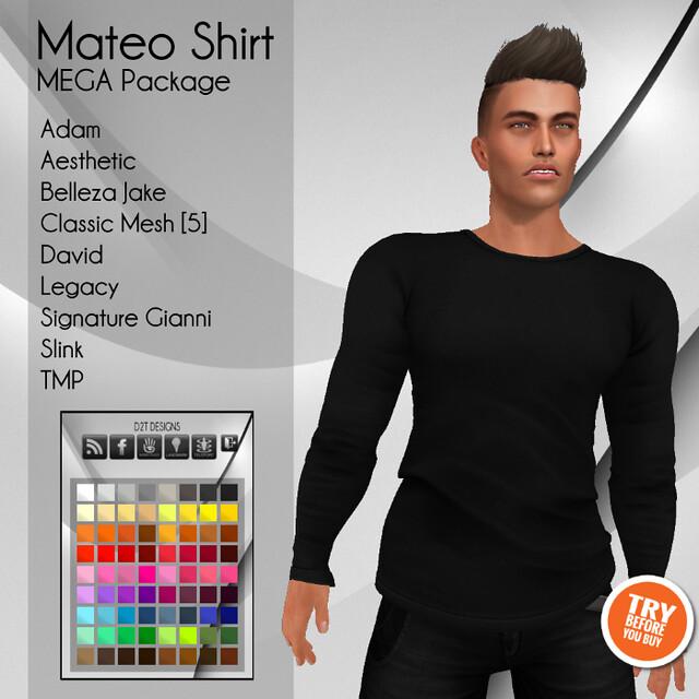[D2T Designs] Mateo Shirt #MegaPack ADD