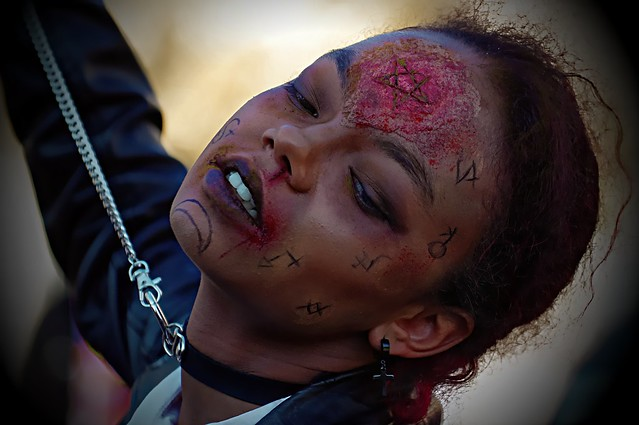 Female Zombie with leash
