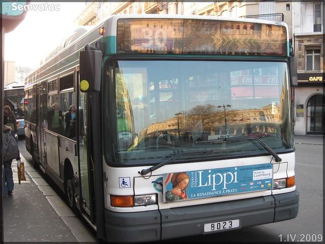 Heuliez Bus GX 317 GPL – RATP (Régie Autonome des Transports Parisiens) / STIF (Syndicat des Transports d'Île-de-France) n°8023