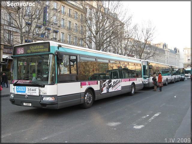 Renault Agora S – RATP (Régie Autonome des Transports Parisiens) / STIF (Syndicat des Transports d'Île-de-France) n°7369