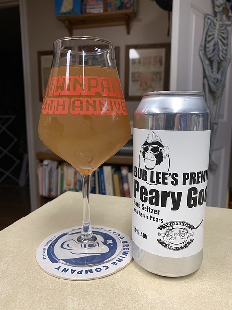 Bub Lee's Premium Peary Good Hard Seltzer with Asian Pears - Twinpanzee Brewing Company Sterling Virginia