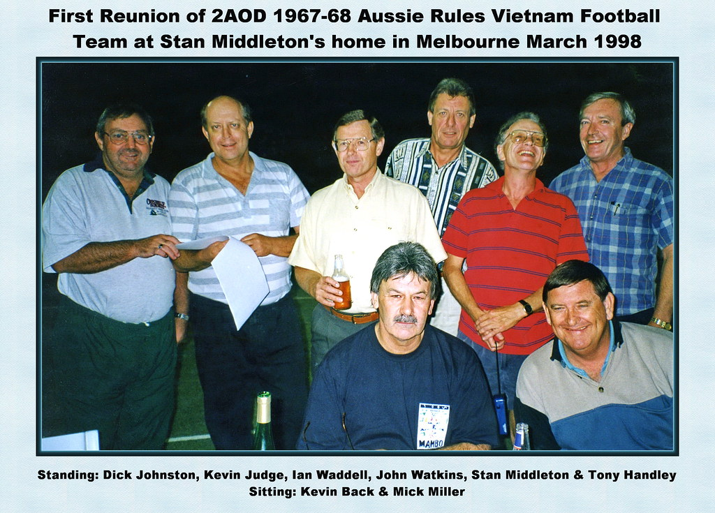 0401-2AOD 1967-68 Aussie Rules Footy Reunion Melbourne March 1998 (Stan Middleton)