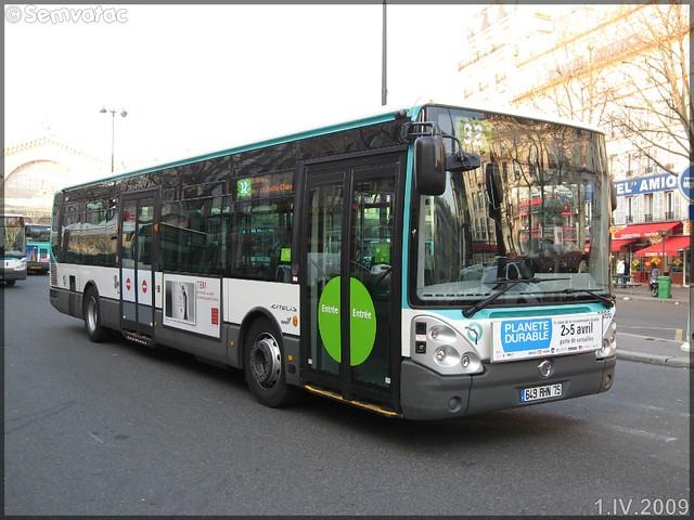 Irisbus Citélis Line – RATP (Régie Autonome des Transports Parisiens) / STIF (Syndicat des Transports d'Île-de-France) n°3386