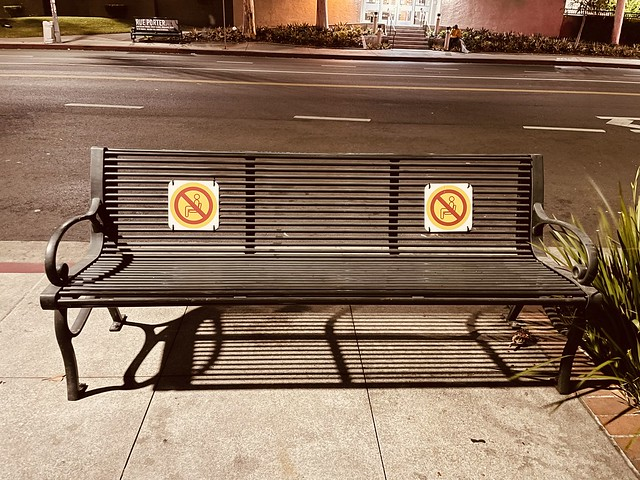 The no sitting bench 🤔