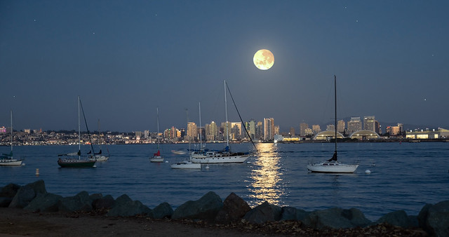 San Diego Moonrise