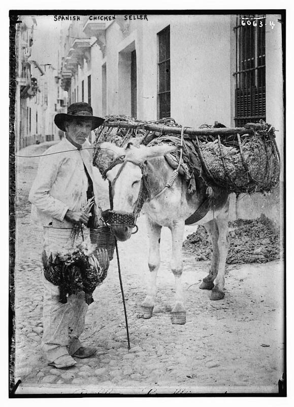 Spanish chicken seller (LOC)