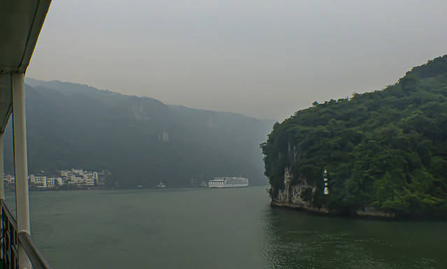 China, Yangzte river, morning fog (approx. 7 a.m.)