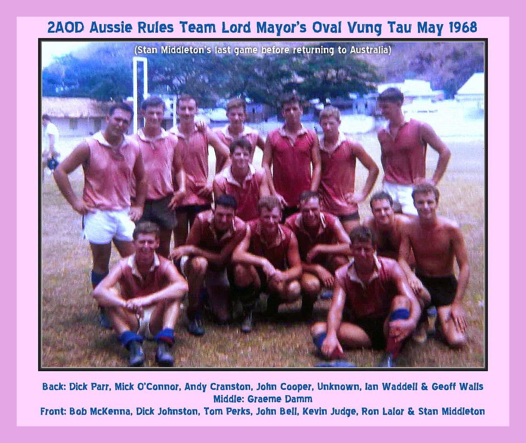 0360-2AOD Aussie Rules Footy Team Vung Tau  May 1968 (Stan Middleton)