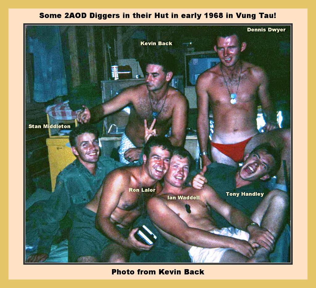0047-Some of the Boys in Kevin Back's Hut 2AOD 1968 (Stan Middleton)