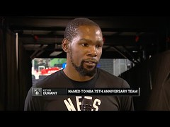 Kevin Durant Reacts To Joining NBA 75 Greatest Players List