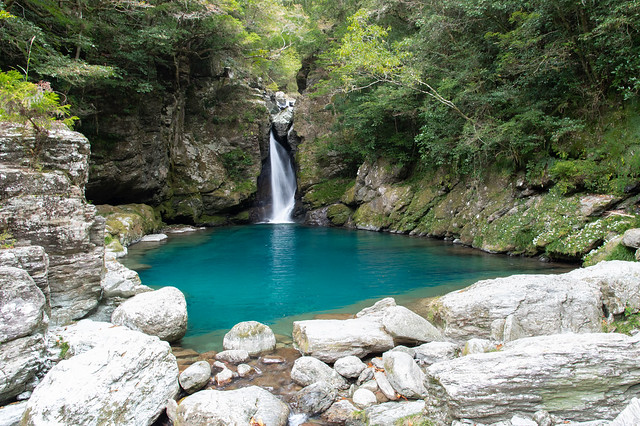 Nikobuchi Falls, Kochi(にこ淵 仁淀ブルー)