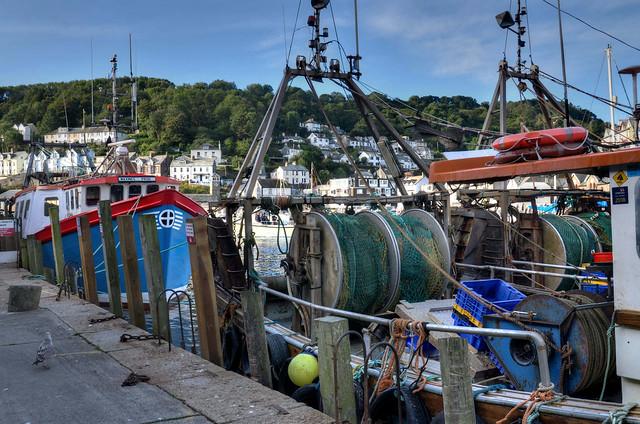 Trawlers on the quayside, Looe, Cornwall