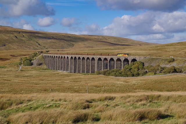 70807 On Ribblehead Viaduct. 21/10/2021.