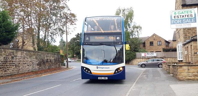 Stagecoach in Yorkshire Scania N230UD Enviro 400 GX10 HBA 15592