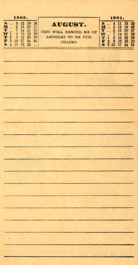 Pierce's Memorandum and Account Book designed for Farmers, Mechanics, and All People, 1900 p. 16
