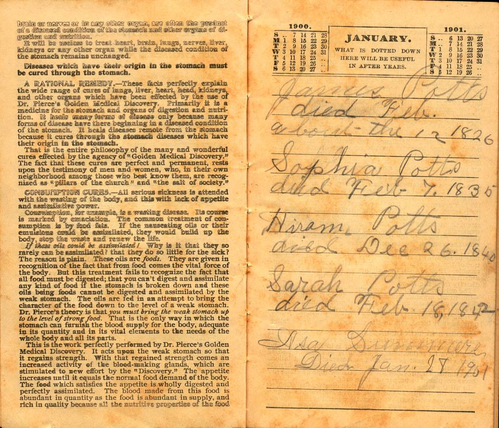 Pierce's Memorandum and Account Book designed for Farmers, Mechanics, and All People, 1900 p. 3