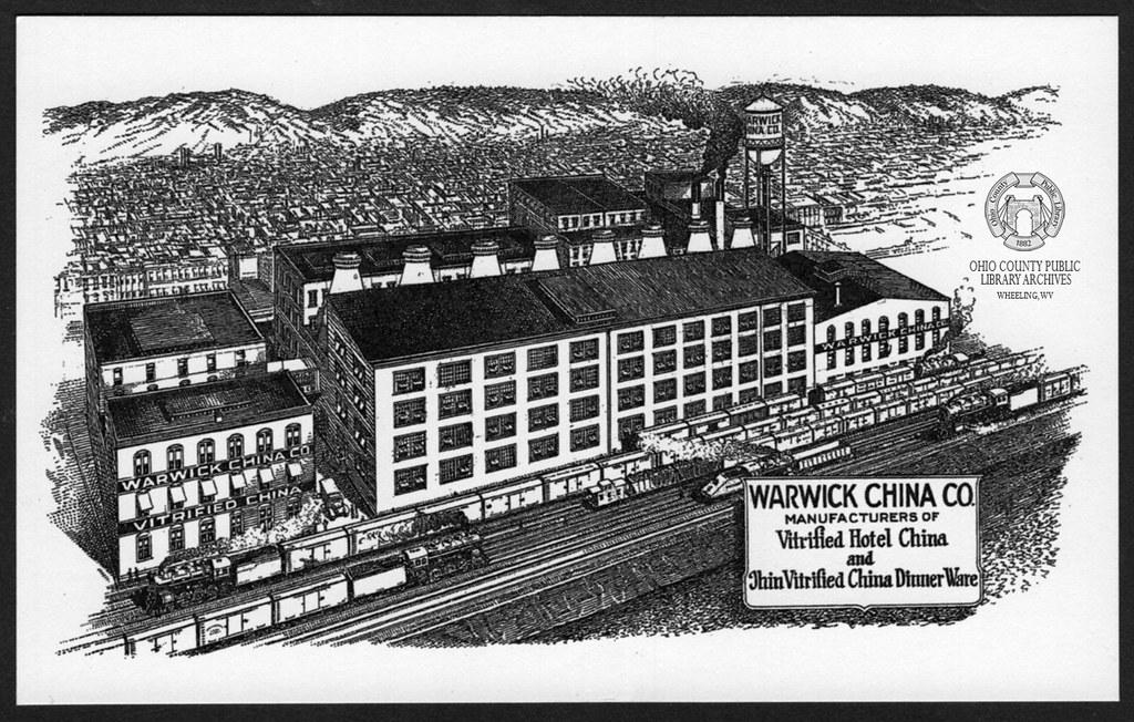 Warwick China Co. Factory Illustration