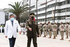 Ministro Hernando Cevallos participu00f3 en ceremonia de reconocimiento al personal de salud del Hospital Militar Central