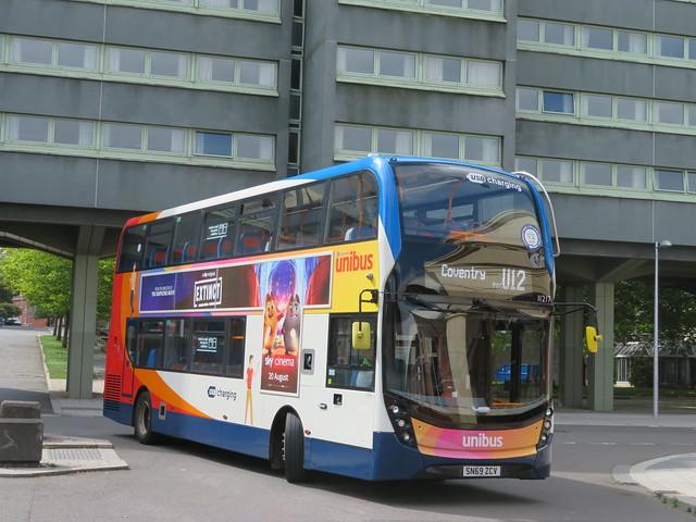 SN69ZCV 11217 Stagecoach Midlands Unibus ADL Enviro 400MMC in Coventry