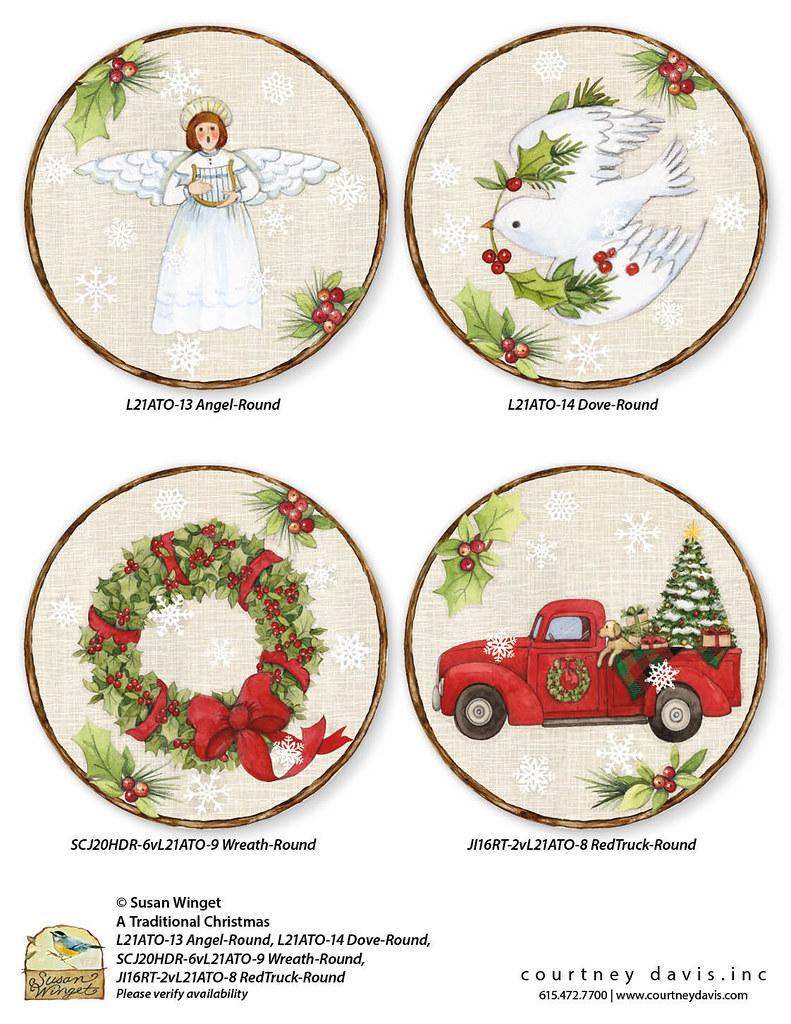 L21ATO-13 Angel-Round, L21ATO-14 Dove-Round, SCJ20HDR-6vL21ATO-9 Wreath-Round, JI16RT-2vL21ATO-8 RedTruck-Round