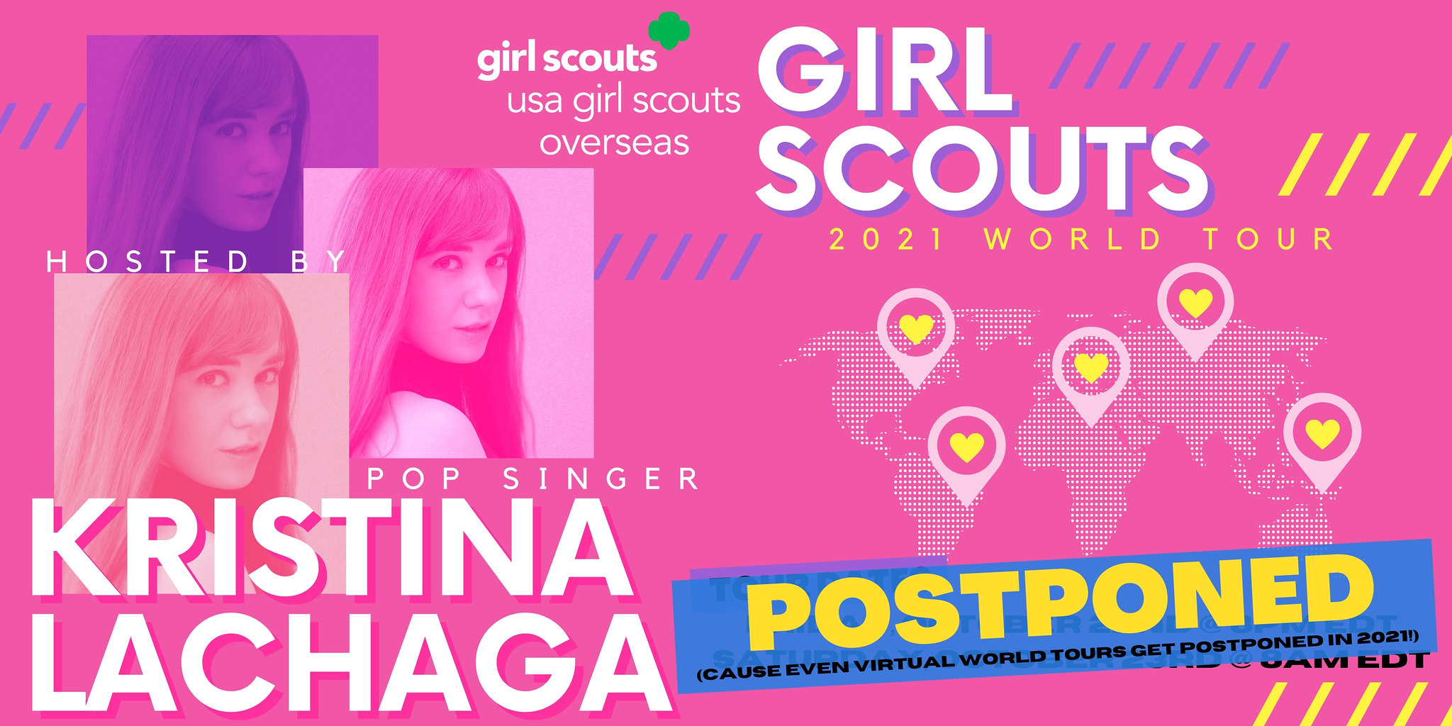 Postponed to 2022: USA Girl Scouts Overseas' Girl Scout World Tour