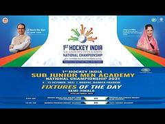 1st HOCKEY INDIA SUB JUNIOR MEN ACADEMY NATIONAL CHAMPIONSHIP 2021,BHOPAL 4 To 13 OCTOBER 2021
