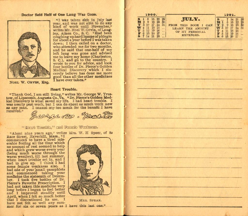 Pierce's Memorandum and Account Book designed for Farmers, Mechanics, and All People, 1900 p. 14