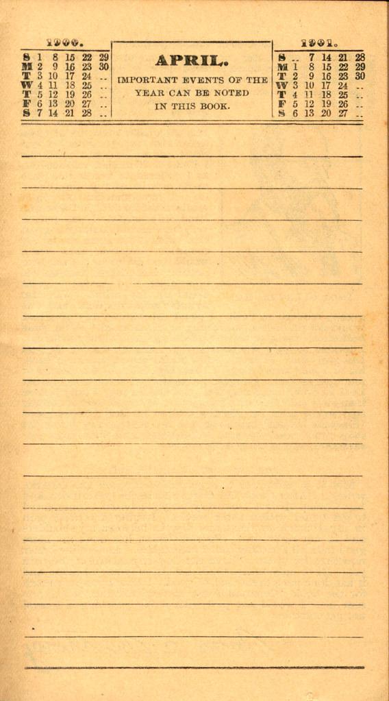 Pierce's Memorandum and Account Book designed for Farmers, Mechanics, and All People, 1900 p. 9