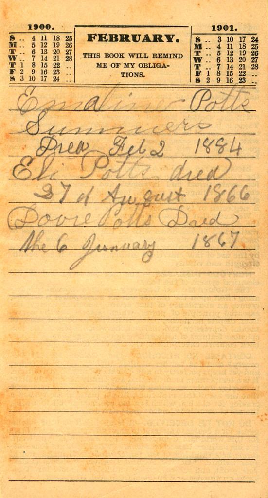 Pierce's Memorandum and Account Book designed for Farmers, Mechanics, and All People, 1900 p. 5