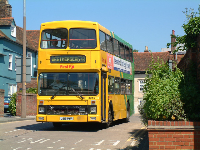 Eastern National L315PWR Colchester in 2002