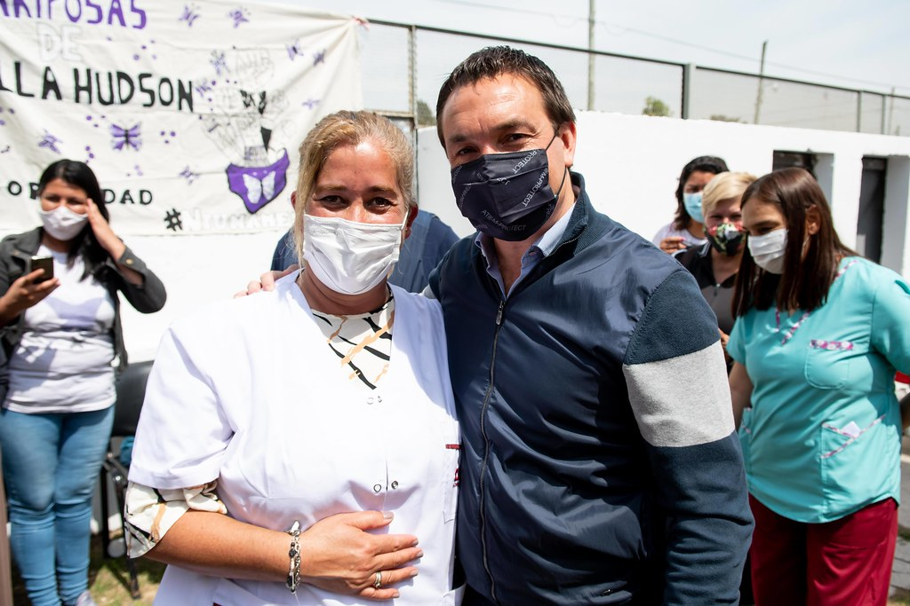 Villa Hudson: Watson verificó las refacciones efectuadas en el Centro de Salud
