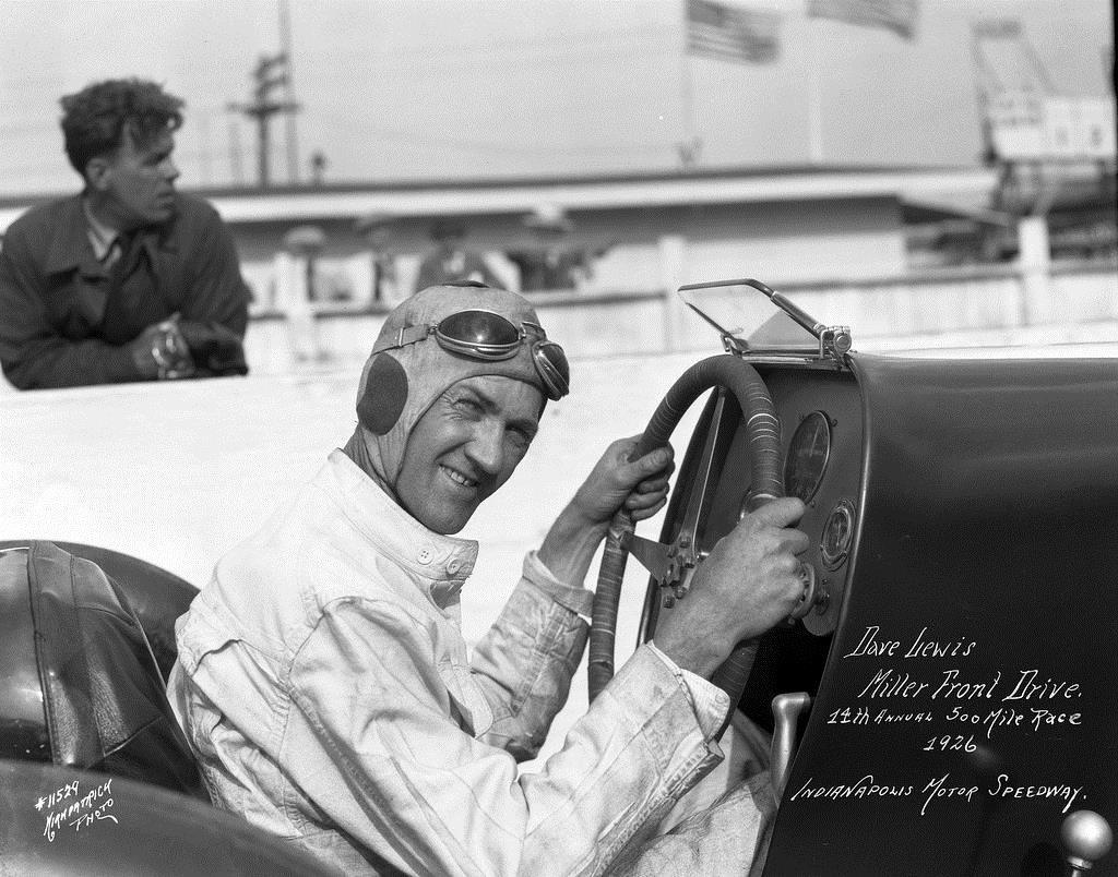 Lewis, Dave 1926 Indy 500 FD Miller