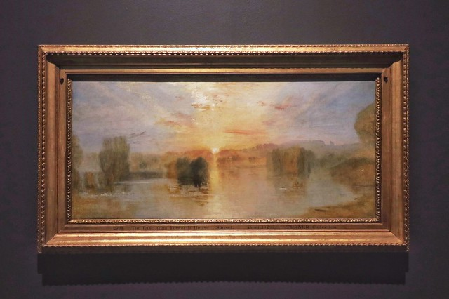 The Lake from Petworth House: Sunset