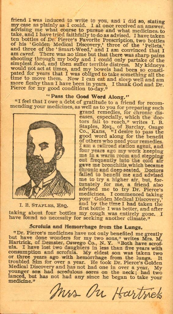 Pierce's Memorandum and Account Book designed for Farmers, Mechanics, and All People, 1900 p. 19