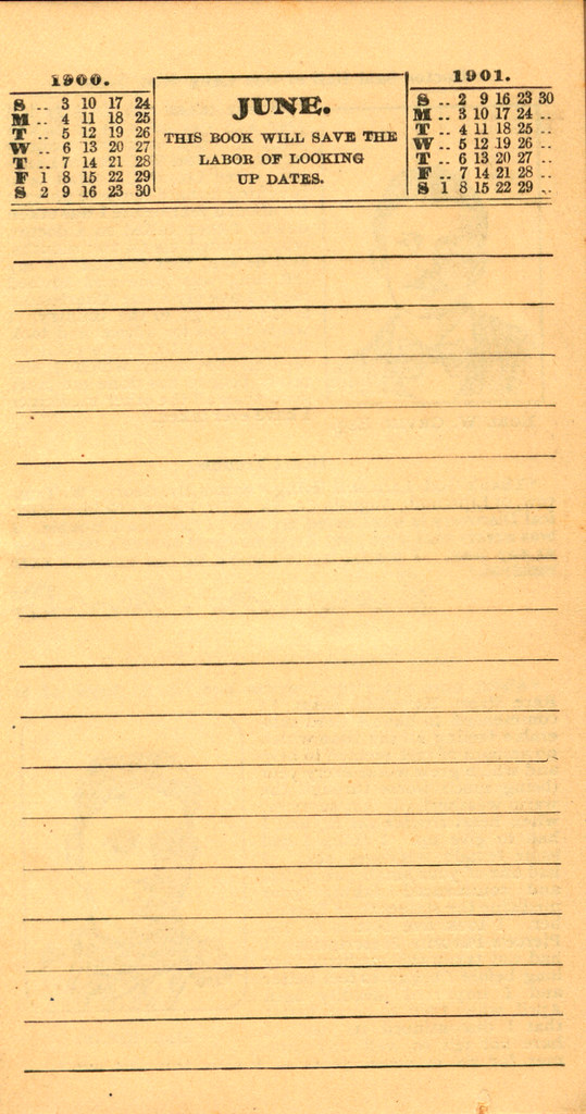 Pierce's Memorandum and Account Book designed for Farmers, Mechanics, and All People, 1900 p. 13